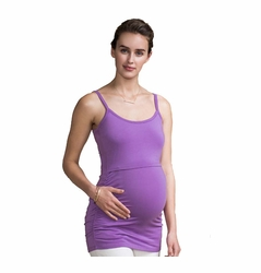 Boob Maternity Nursing Ruched Singlet Cami Top