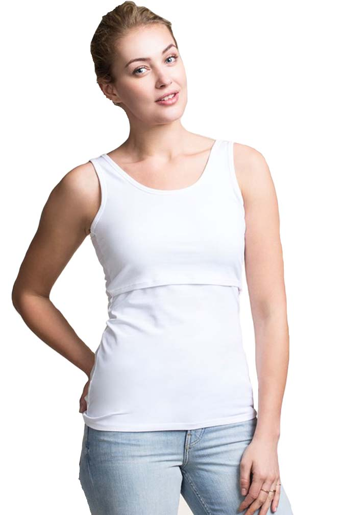 All boob nursing tops and dresses feature a double layer fabric design over the bust, allowing for discreet and comfortable nursing. The opening is simply pushed aside with one hand, leaving the other one free to hold baby.