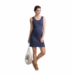 Boob Organic Cotton Maternity Nursing Dot Tank Dress