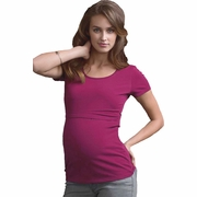 Boob Round Neck Short Sleeve Maternity Nursing Top