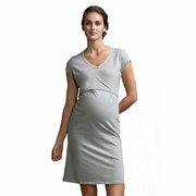Boob Short Sleeve Maternity Nursing Nightdress
