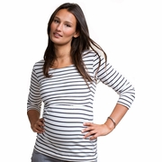 Boob Simone Striped Maternity And Nursing Top 3/4 Sleeve