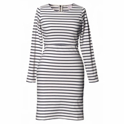 Boob Simone Striped Maternity Nursing Long Sleeved Dress