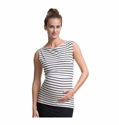 Boob Simone Striped Maternity Nursing Singlet Tank Top