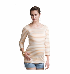 Boob Simone Striped Maternity Nursing Top 3/4 Sleeve