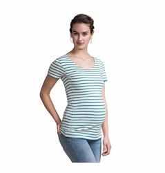 Boob Simone Striped Maternity Nursing Top Short Sleeve