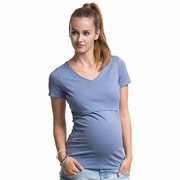 Boob V Neck Short Sleeve Maternity Nursing Top