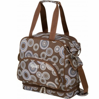 SOLD OUT Bumble Bags Camille Changing Bag - Geo Blue And Brown