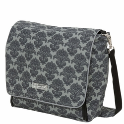 SOLD OUT  Bumble Bags Jessica Messenger Diaper Bag - Grey Filagree