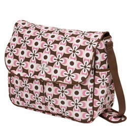 SOLD OUT Bumble Bags Michelle Courier Diaper Bag - Pink Geo