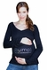 """SOLD OUT [bump] """"baby under manufacturing process"""" Long Sleeve Maroc Tee With Swarovski� Crystals"""