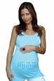 "[bump]  ""I�m not fat [bump] on board"" Maternity Tank Top"