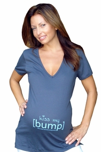"[bump] ""kiss my [bump]"" Maternity V Neck Tee"
