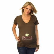 [bump] Star Maternity V Neck Tee With Swarovski� Crystals