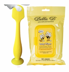 Bundle - Baby Bum Diaper Cream Brush and Bella B Baby Wipes