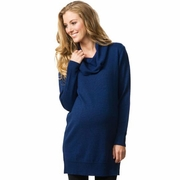 Crave Drape Front Merino Wool Maternity Tunic Sweater