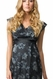 Crave Floral Print V Neck Career Maternity Dress