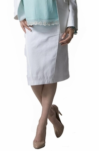 Crave Smart Linen Pencil Maternity Skirt