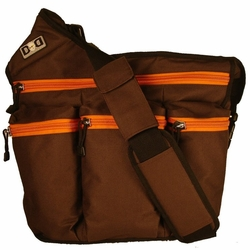 SOLD OUT Diaper Dude Messenger Diaper Bag - Brown/Orange Canvas