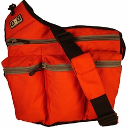 Diaper Dude Messenger Diaper Bag - Orange Canvas