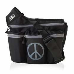 Diaper Dude Messenger Diaper Bag - Peace Sign