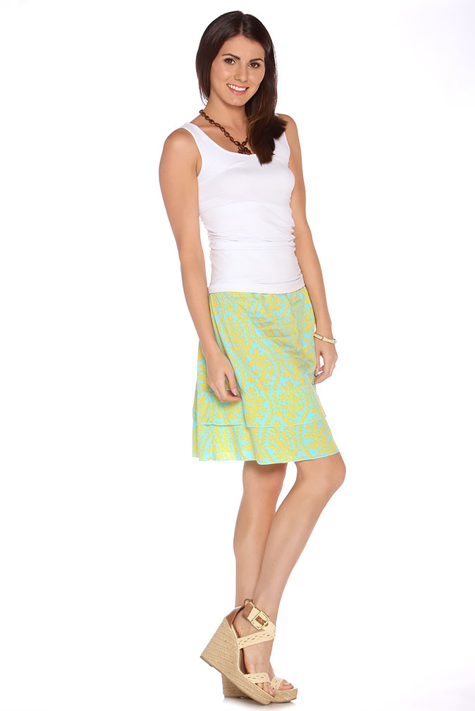 Due Maternity Abigail Pregnancy And Beyond Tiered Skirt