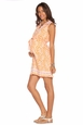 Due Maternity Lacey Pregnancy And Beyond Shift Dress  - Orange/White