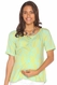 Due Maternity Macy Pregnancy And Beyond Button Front Top - Blue/Yellow