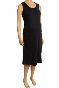 Due Maternity Pregnancy And Beyond Tank Dress - Solid Black