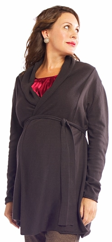 SOLD OUT Egg Belted Maternity Cardigan Sweater