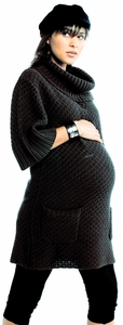 Egg Cowl Maternity Tunic Sweater