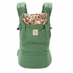 Ergobaby Organic Ergo Baby Carrier - Green/River Rock