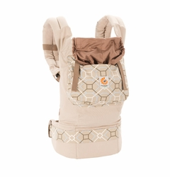 Ergobaby Organic Ergo Baby Carrier - Taupe/Lattice