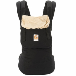 Ergobaby Original Ergo Baby Canvas Carrier - Black/Camel