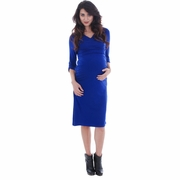 Everly Grey Aileen Cowl Neck Maternity Dress
