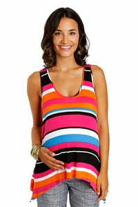 Everly Grey Aspen Asymmetrical Maternity Tank Top