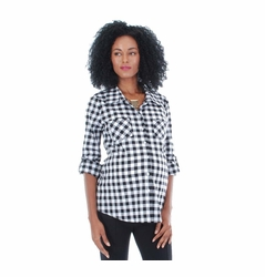 Everly Grey Batina Button Down Maternity Shirt