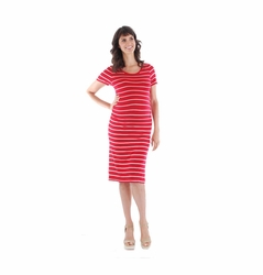 Everly Grey Camila Striped Maternity Dress