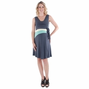 Everly Grey Claire Sleeveless Maternity Nursing Wrap Dress