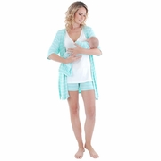 Everly Grey Daphne 5 PC Mom & Baby Maternity Nursing Short Pajama Set