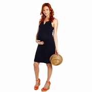 Everly Grey Eden Button Detail Sleeveless Maternity Dress