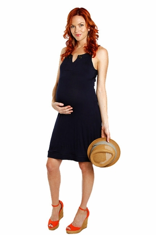 SOLD OUT Everly Grey Eden Button Detail Sleeveless Maternity Dress