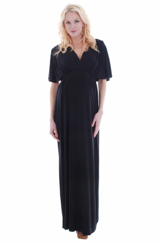 Everly Grey Goddess Maternity Maxi Dress