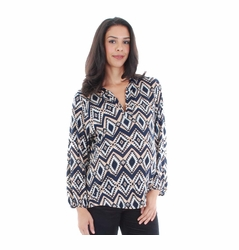 Everly Grey Izzy Open Placket Maternity Top
