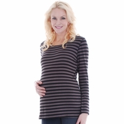 Everly Grey Jasmine Stripe Long Sleeve Maternity Top