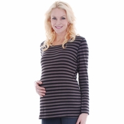 SOLD OUT Everly Grey Jasmine Stripe Long Sleeve Maternity Top
