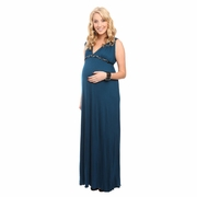 Everly Grey Jill Maternity Maxi Dress With Embellished Detachable Belt