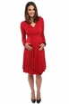 Everly Grey Kaylee Maternity And Nursing Faux Wrap Dress