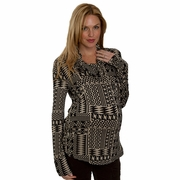 Everly Grey Kelsey Geometric Print Tunic Top