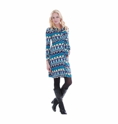 Everly Grey Lucy Ikat Maternity Shirt Dress